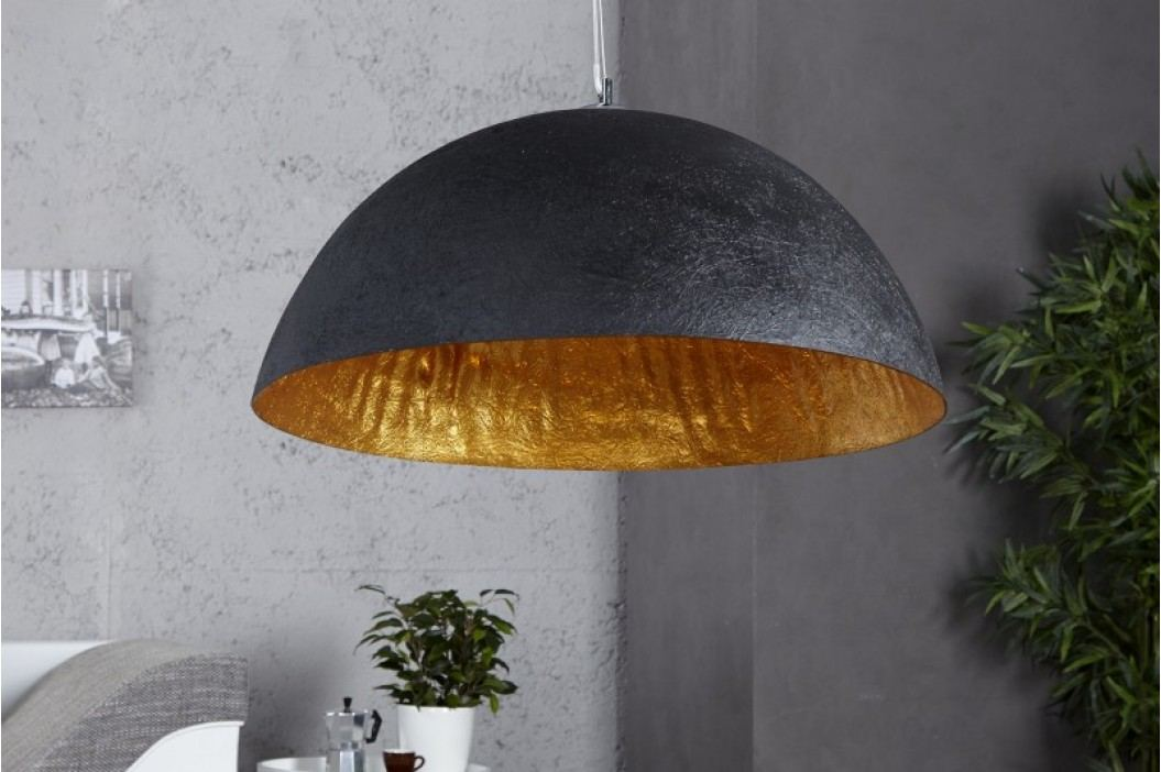 Visiaca lampa NEMESIS 50 cm- čierna/zlatá