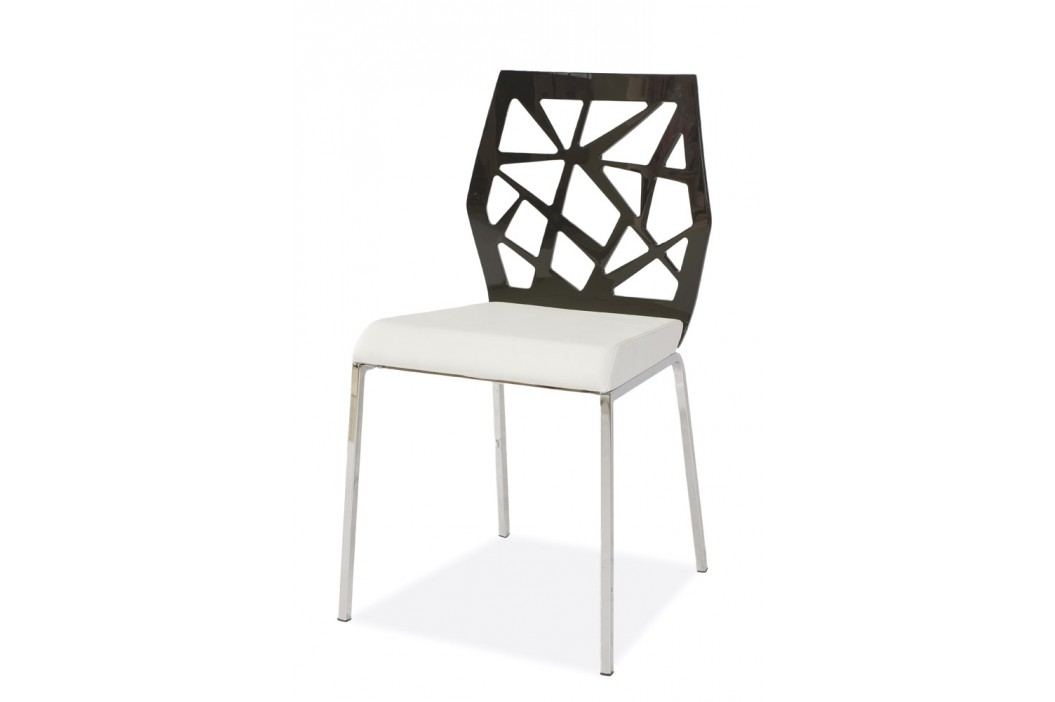 Jedálenská stolička SEMJON - čierna/biela