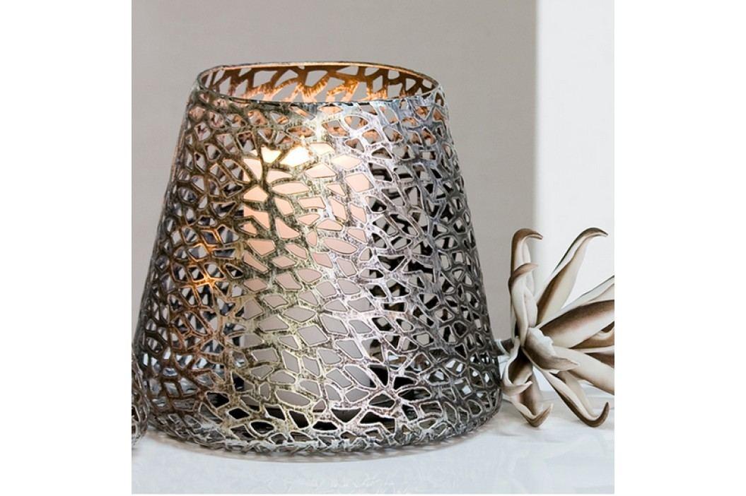 Dekoratívny svietnik PURLEY 20 cm - antická strieborná