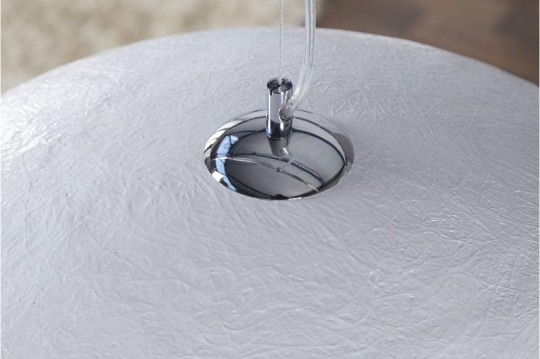 Visiaca lampa NEMESIS 50 cm - biela/strieborná
