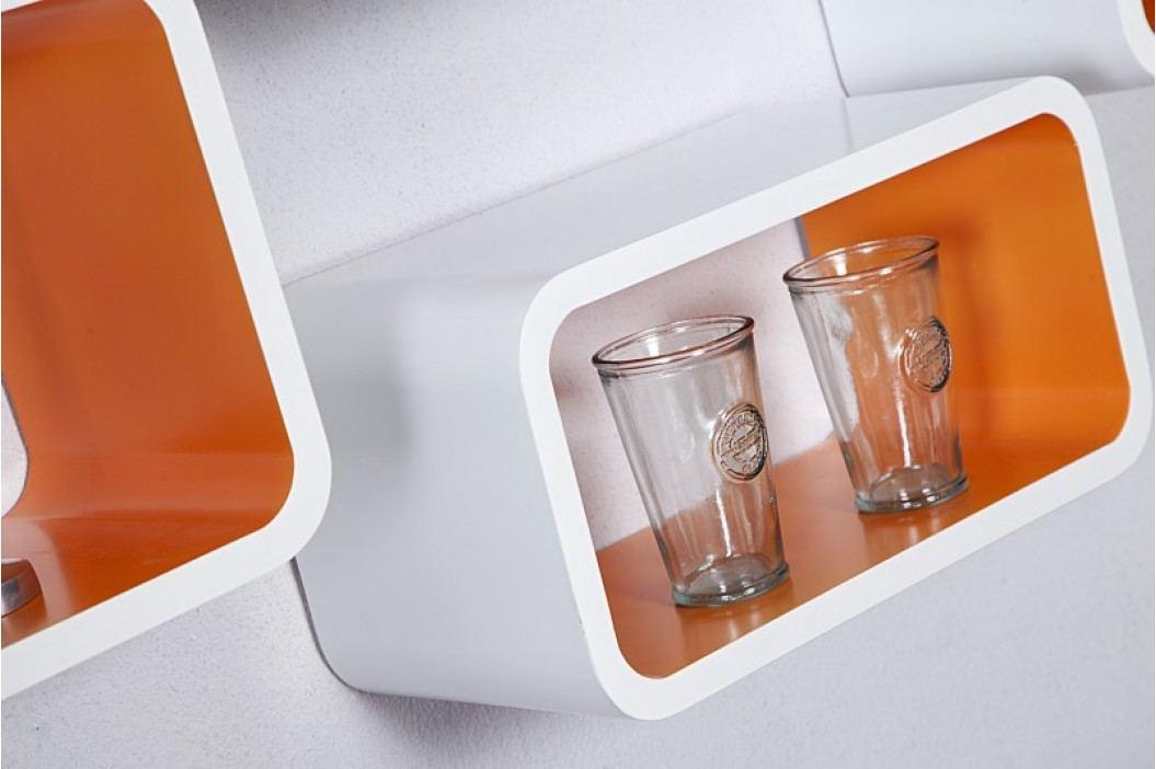 Regály CLUB SET ORANGE - biela/oranžová