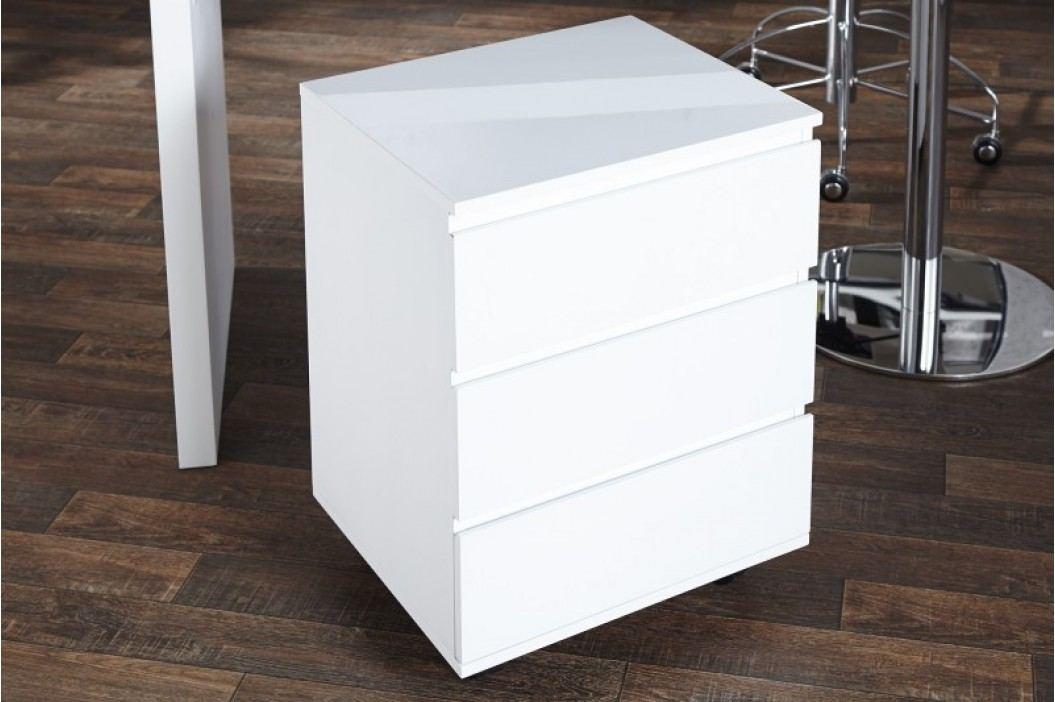 Zásuvkový kontajner BAJKAL vo vysokom lesku - biela