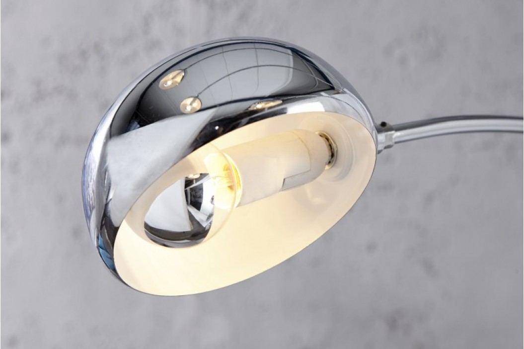 Stojaca lampa CRATER chróm - strieborná
