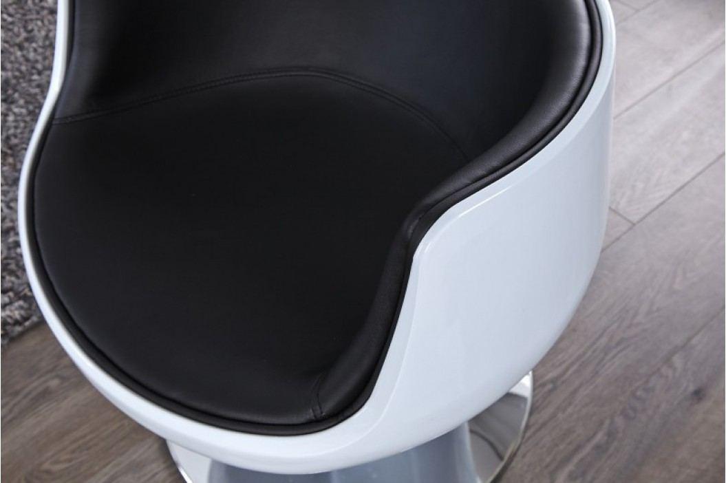 Kreslo COMBO - biela/čierna