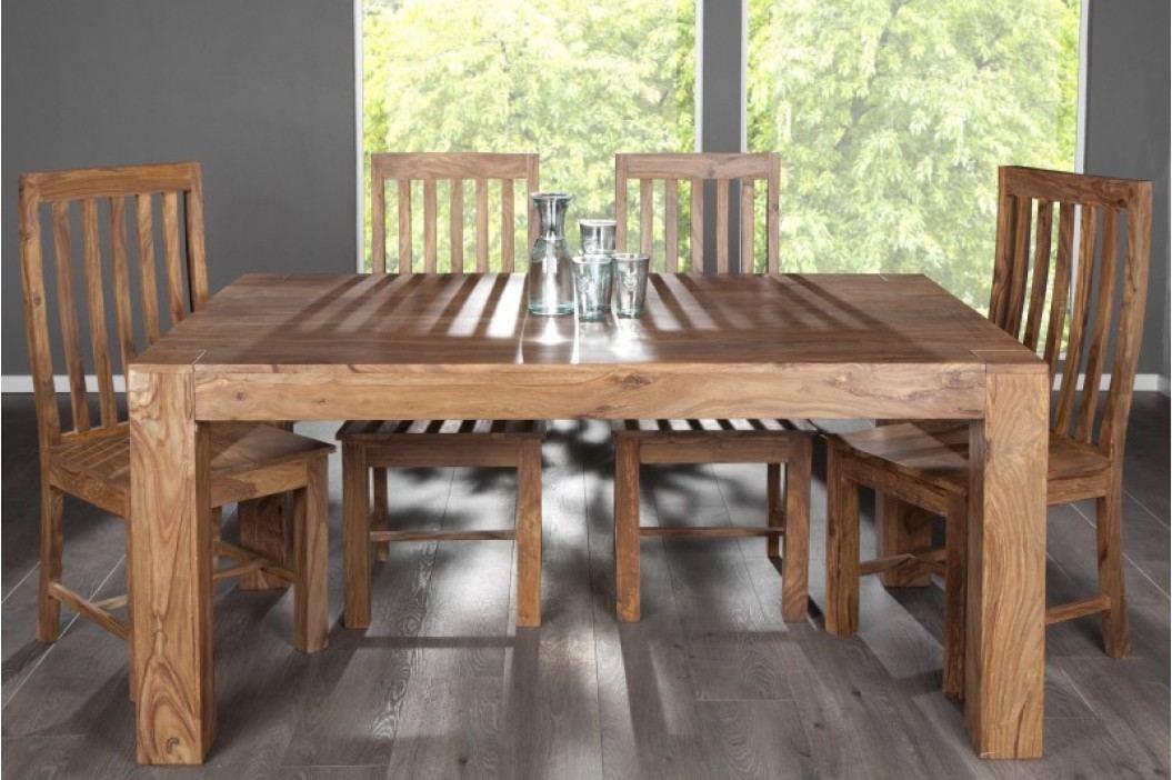 Jedálenský stôl MAKASSAR NATUR 160cm - hnedá