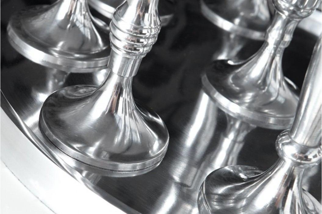 Svietnik LOBY III hliníkový - strieborná