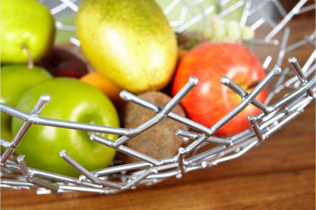 Miska na ovocie ROLLA - strieborná