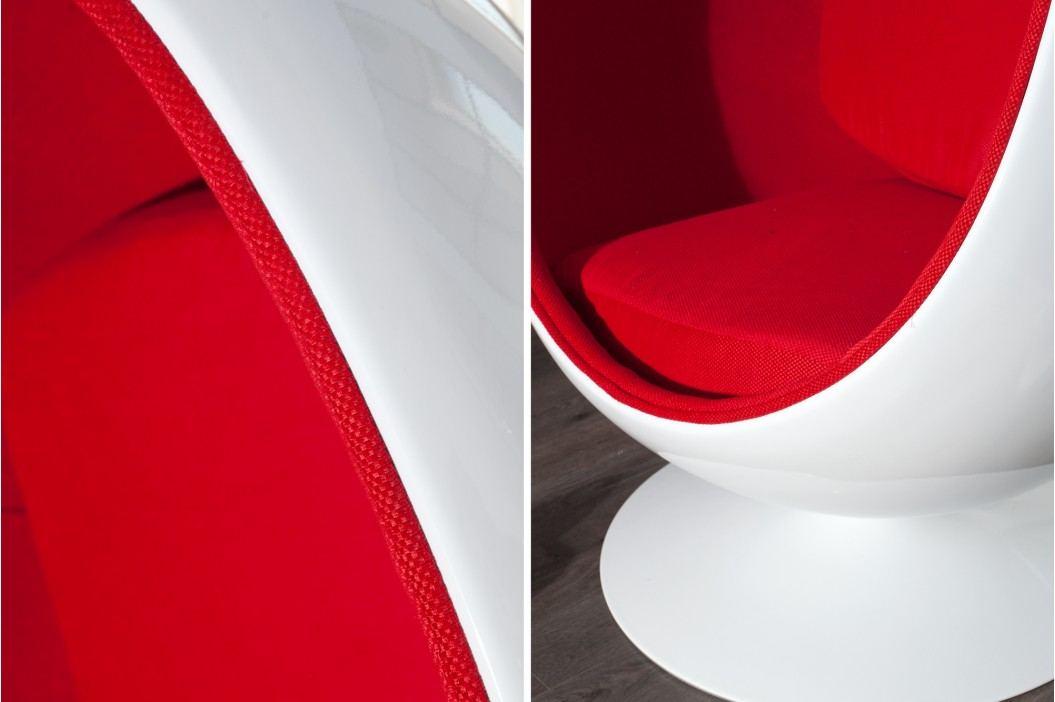 Kreslo SPACE EGG RED - biela/červená