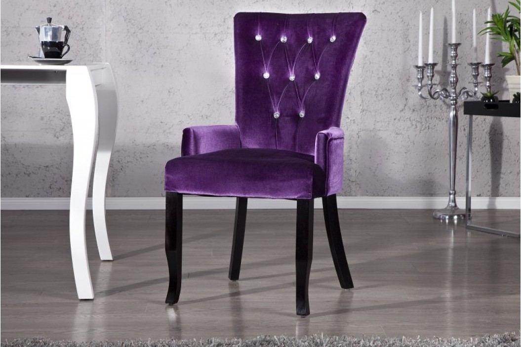 Stolička BAROCCO SET LILA - fialová