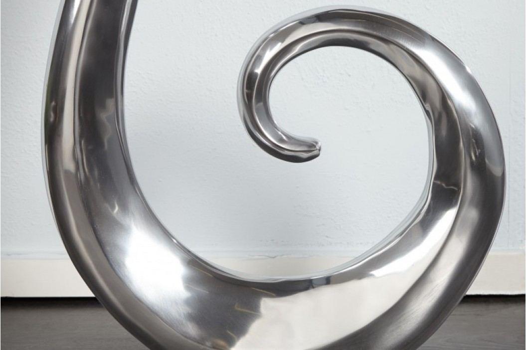 Dekoratívna váza WAVE - strieborná