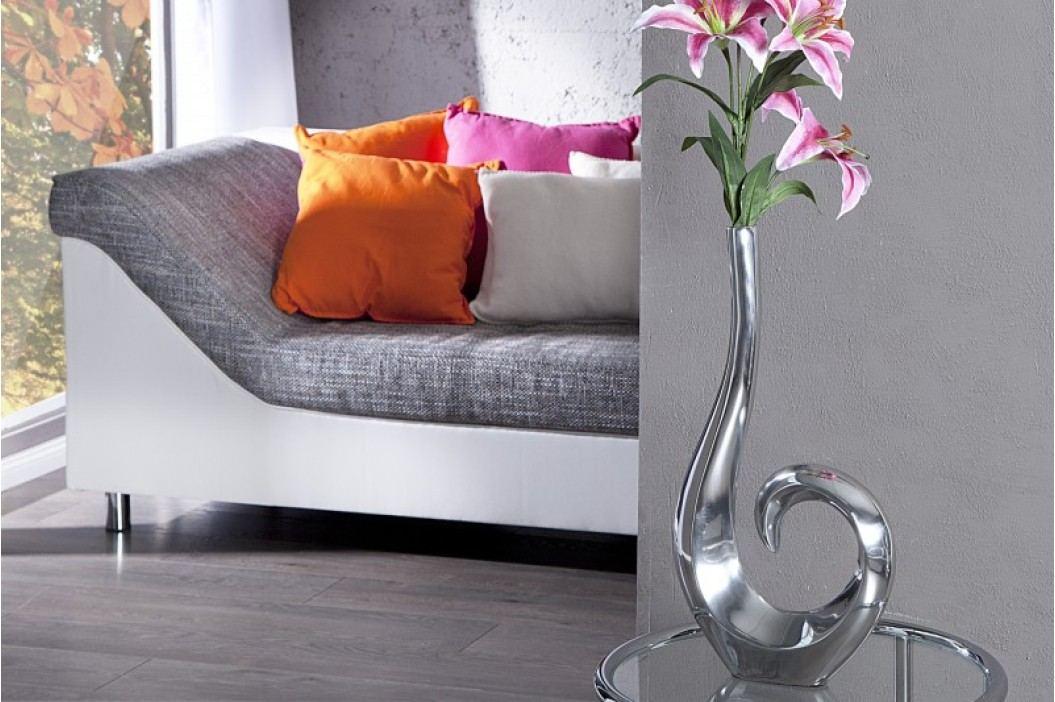 Dekoratívna váza WAVE 50cm - strieborná