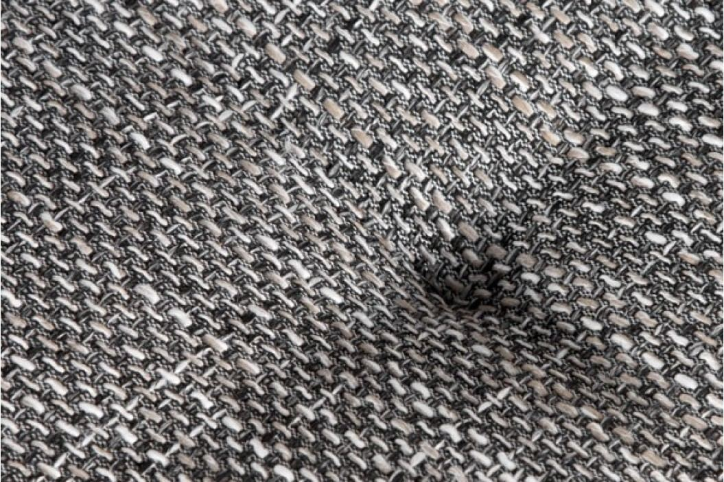 Rohová sedacia súprava PUEBLO OT vpravo - biela/sivá