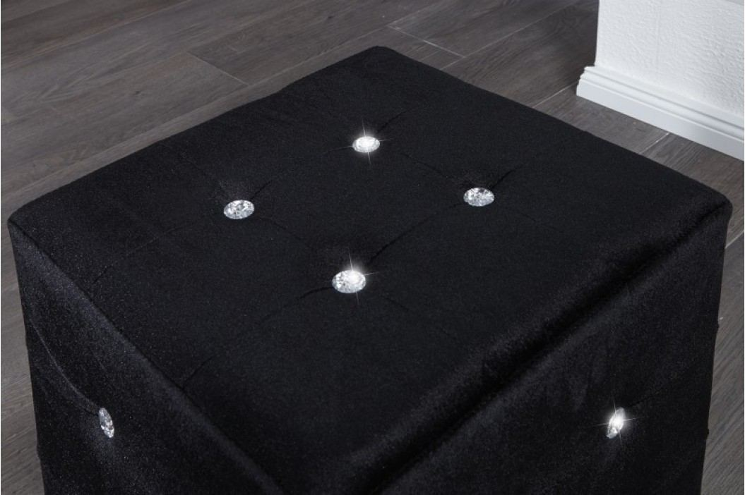 Taburetka BLACK - čierna