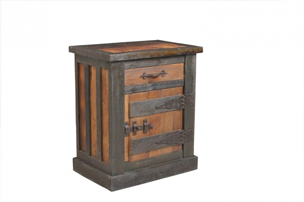 Nočný stolík FURTEZZ 60 cm - hnedá