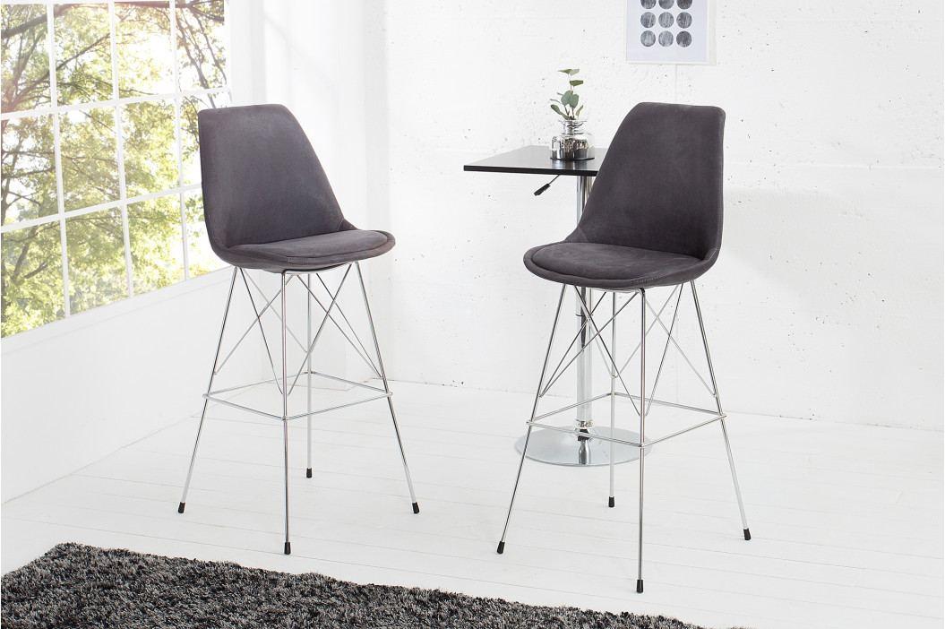 Bighome - Barová stolička SCANIA RETRO - antická sivá