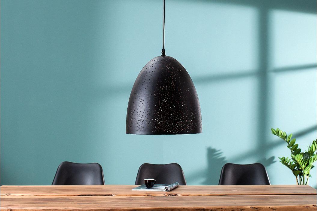 Bighome - Visiaca lampa MOONLY II - čierna, medená