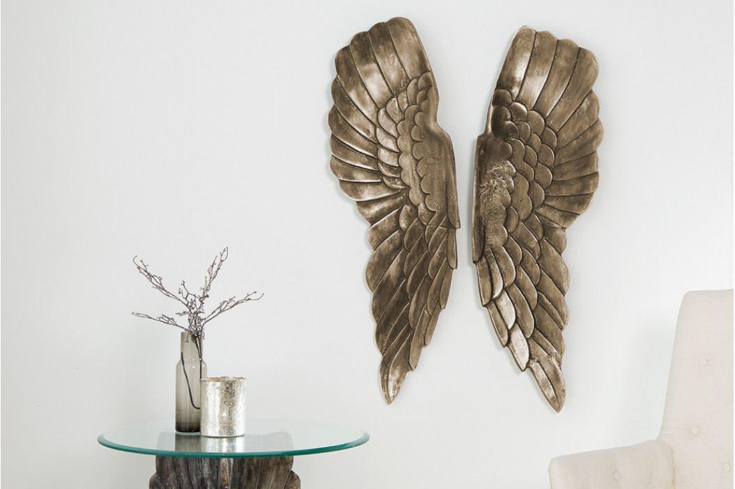 Bighome - Nástenná dekorácia ANGEL 65 cm - bronzová