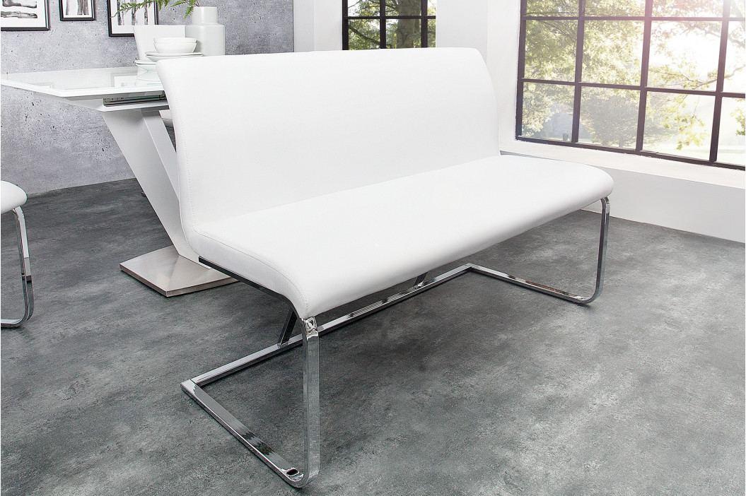 Bighome - Lavica HAMTON 130 cm - biela