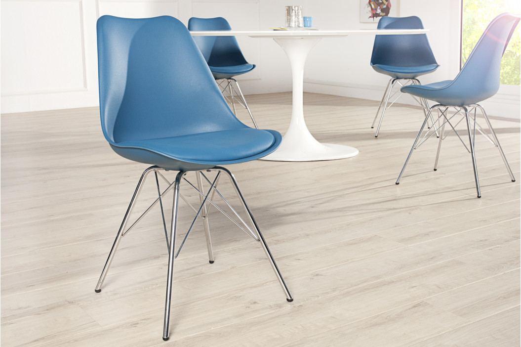 Bighome - Jedálenská stolička SCANIA RETRO - modrá