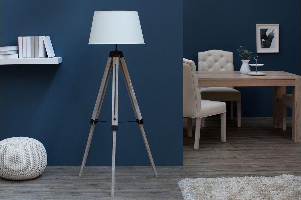 Bighome - Stojaca lampa PIXYS 99-143 cm - béžová
