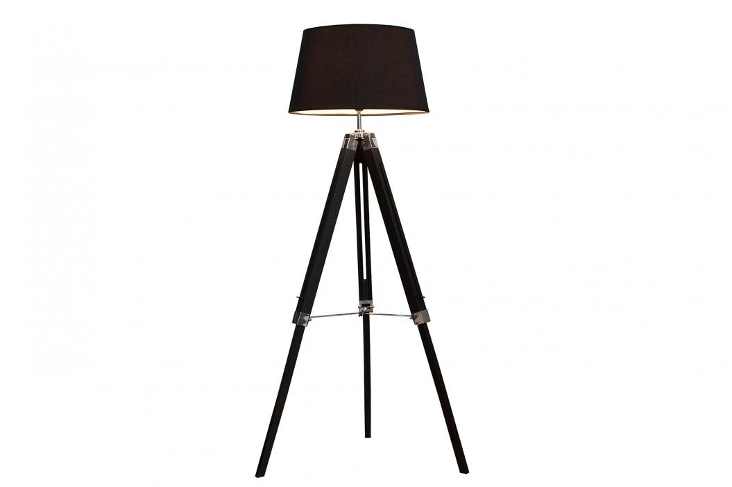 Bighome - Stojaca lampa PIXYS 99-143 cm - čierna