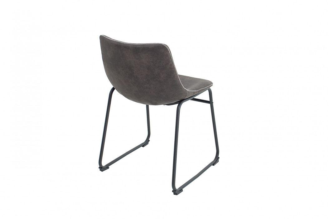 Bighome - Stolička RANGO - vintage sivá