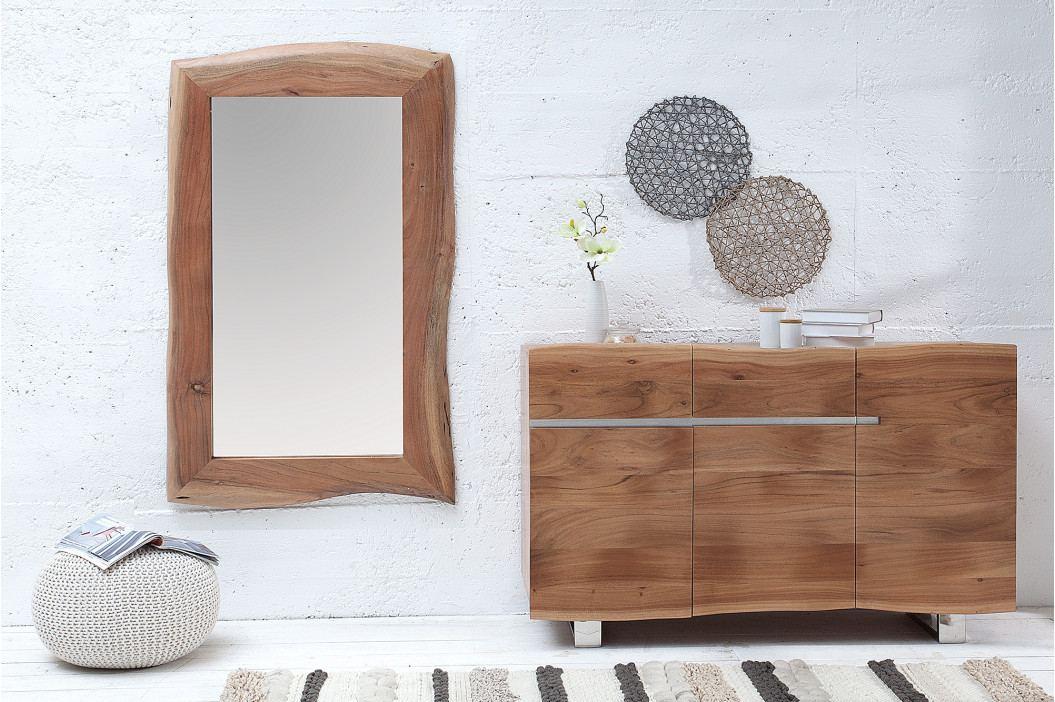 Bighome - Zrkadlo ERNEST 161x82 cm - prírodná