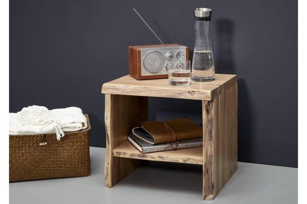 Bighome - WOODLAND Nočný stolík bez šuplíka 40x45 cm, prírodná, akácia