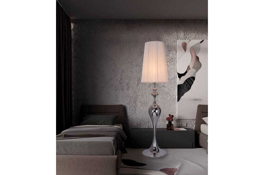 Bighome - Stojaca lampa LUCIA 160 cm - strieborná