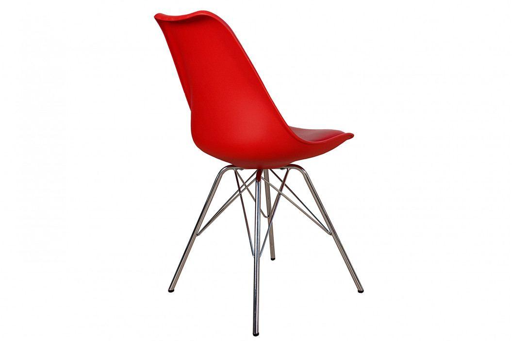 Bighome - Stolička SKANDINAVIA - červená