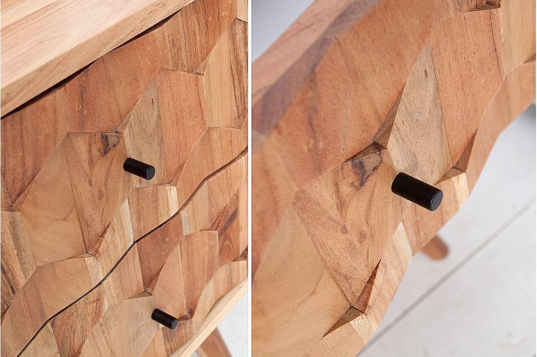 Bighome - Nočný stolík MYSTIK 40 cm - prírodná