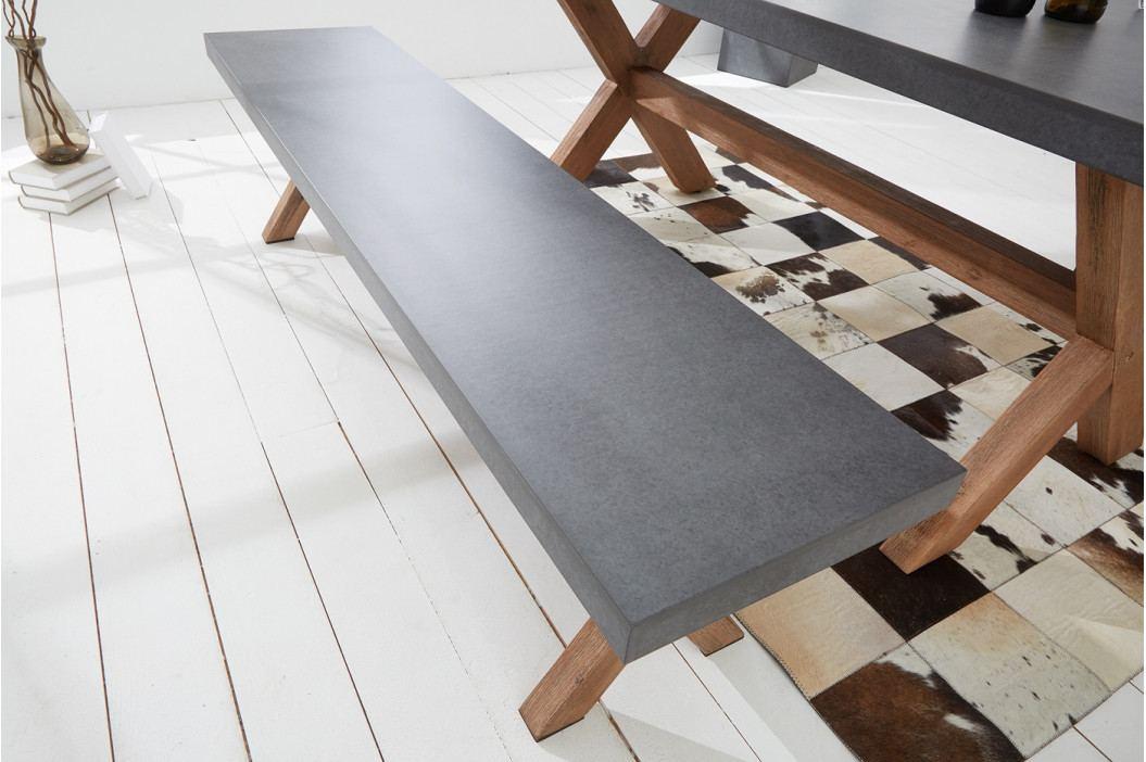 Bighome - Lavica CEMENTY 180 cm - sivá