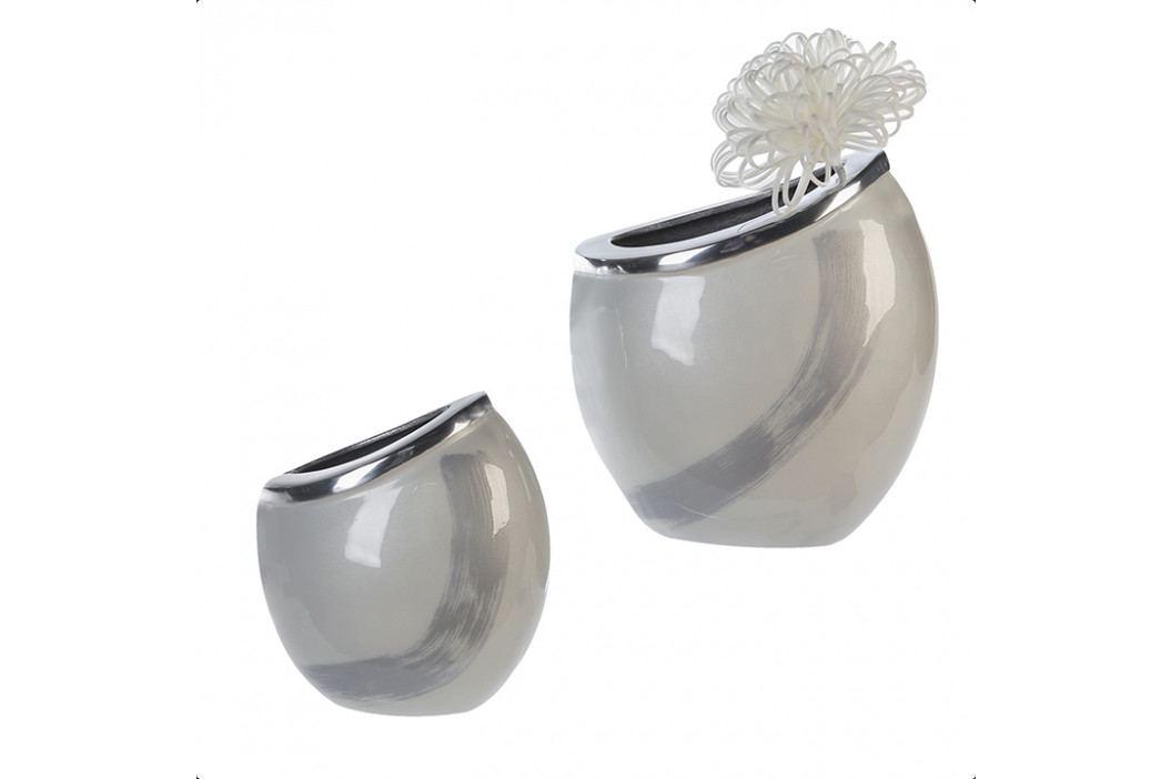 Bighome - Váza VANY 24 cm - strieborná