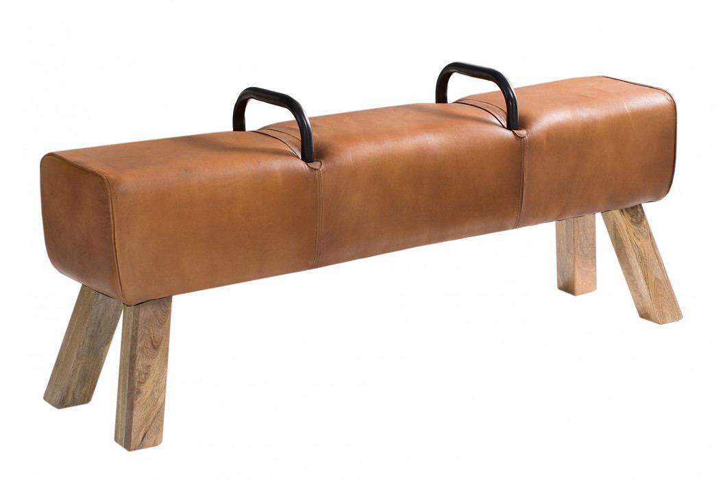 Bighome - Lavica CULT 134x35 cm - hnedá