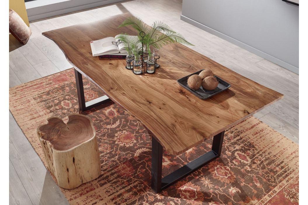 Bighome - METALL Jedálenský stôl s tmavošedými nohami 120x90, akácia, prírodná
