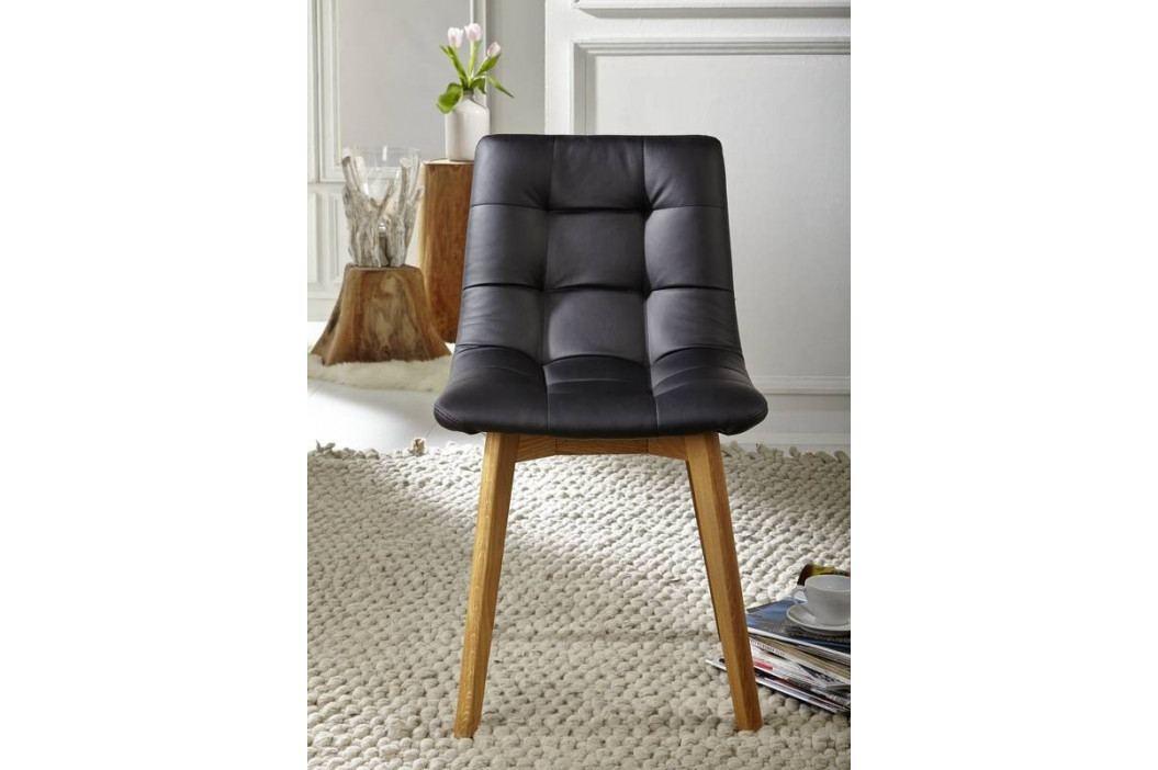 Bighome - HAMBURG Jedálenská stolička čalúnená, čierna
