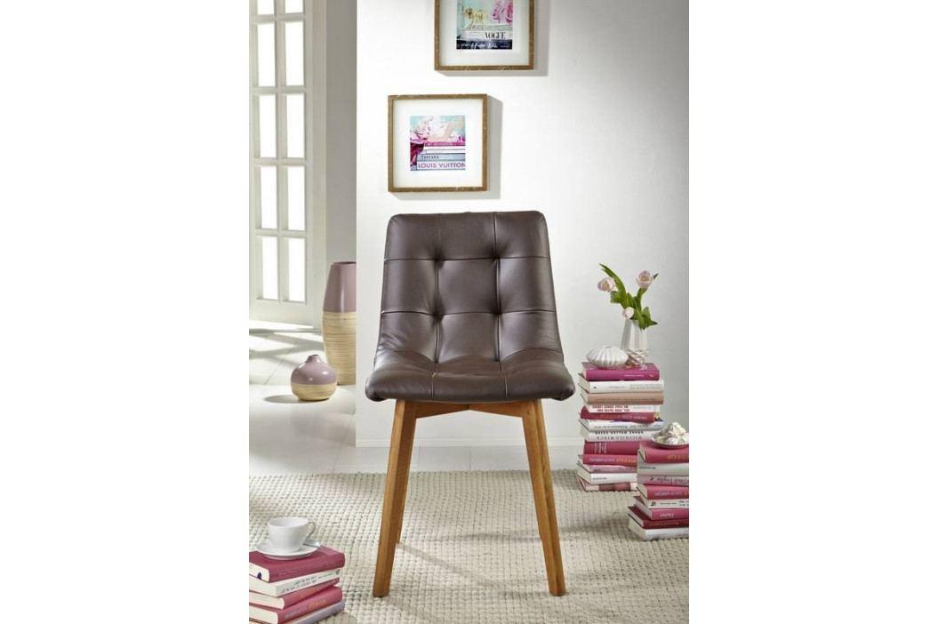 Bighome - HAMBURG Jedálenská stolička čalúnená, hnedá