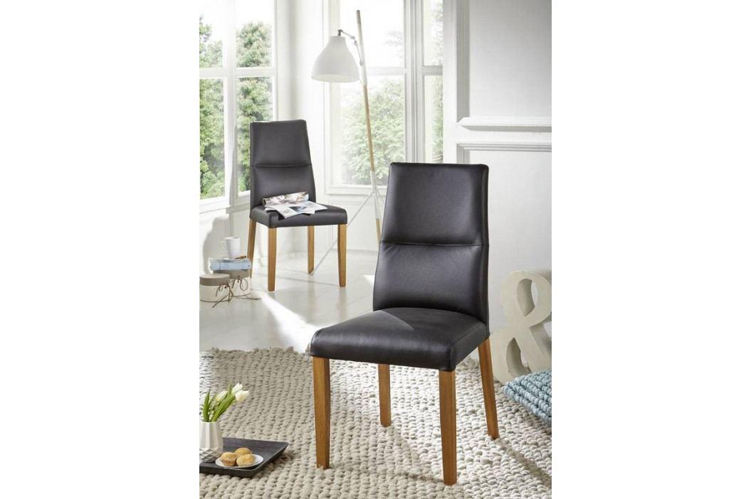 Bighome - HAMBURG III. Jedálenská stolička,koža, čierna