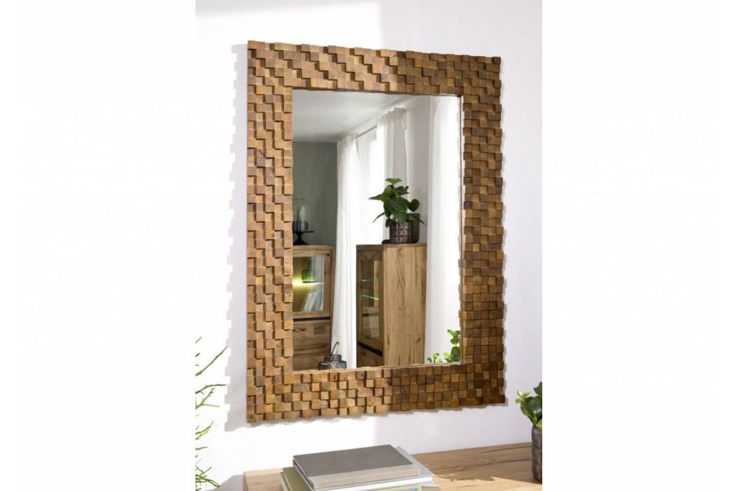 Bighome - DEKOR Zrkadlo 84x115 cm, hnedá