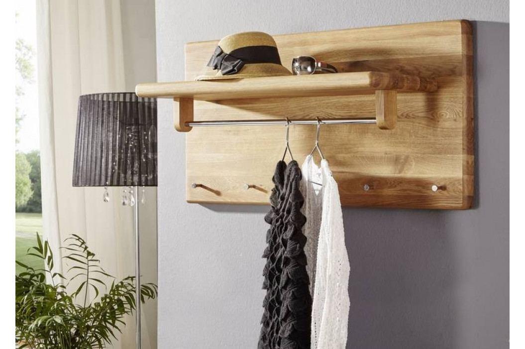 Bighome - VIENNA Nástenný vešiak 100x50 cm, dub