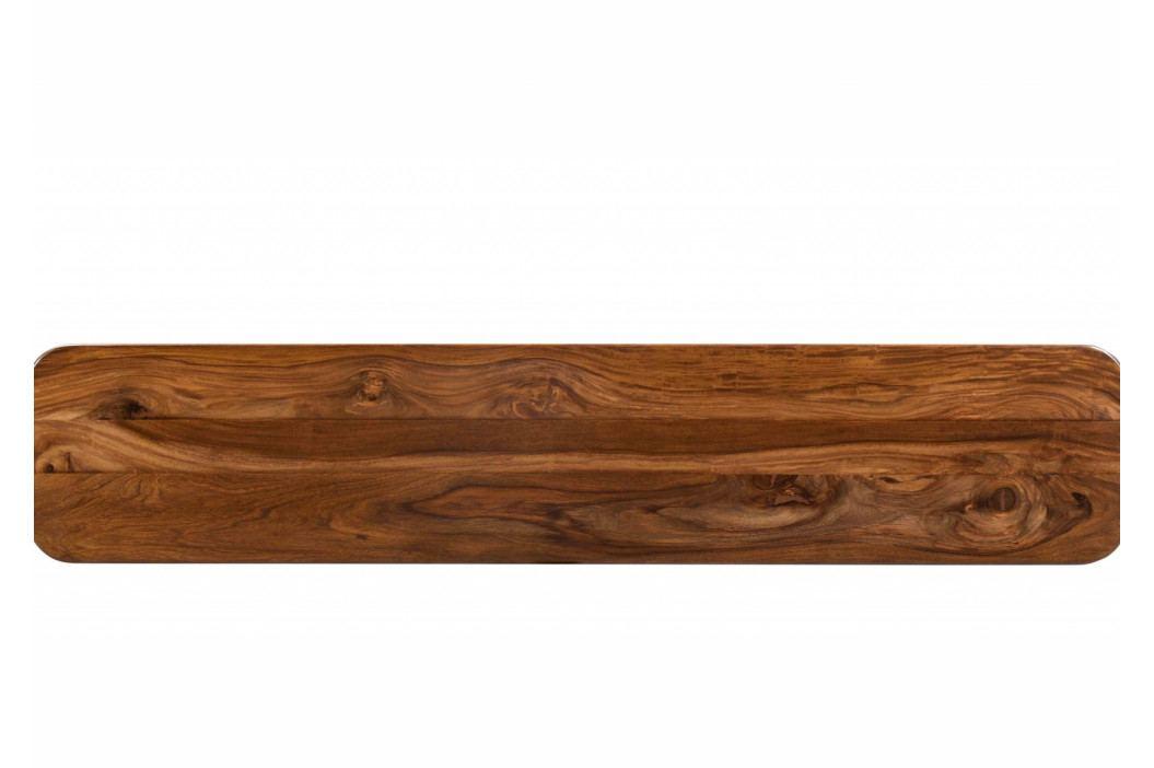 Bighome - MONTREAL Lavica 140x35 cm, hnedá, palisander