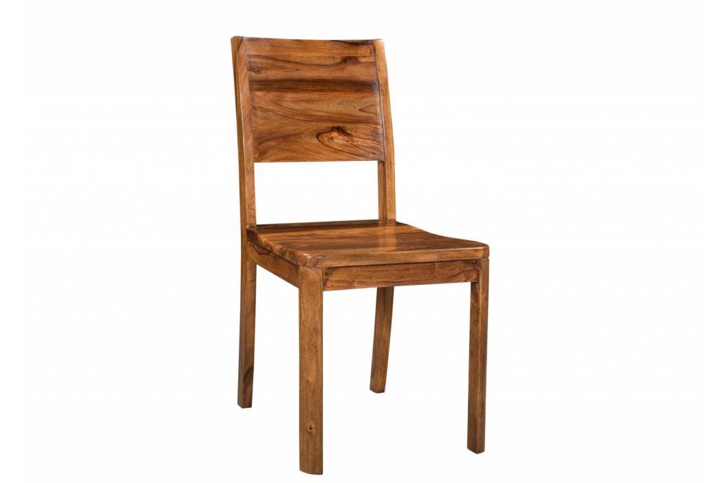 Bighome - MONTREAL Jedálenská stolička drevená - plné operadlo, hnedá, palisander