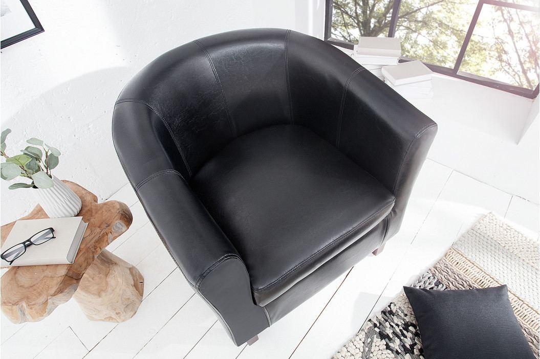 Bighome - Kreslo ERNEST - čierna