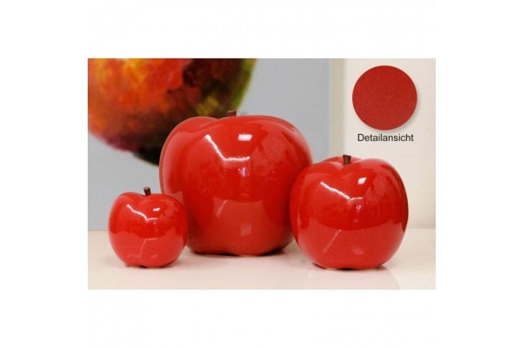 Keramická dekorácia APFEL 18 cm - červená