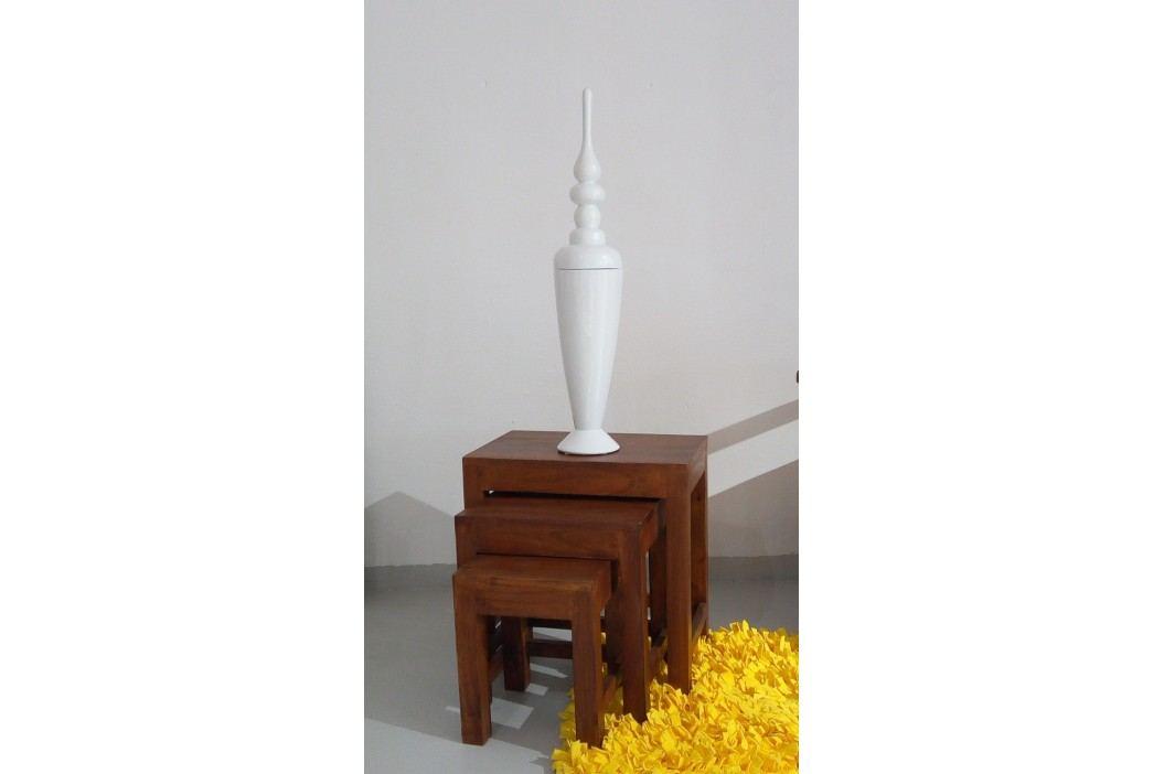 Dekoratívna váza FORLI - biela