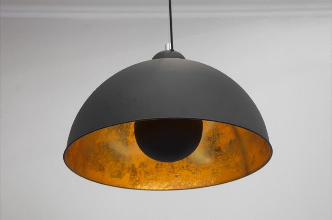 Visiaca lampa CORVUS - čierna/zlatá