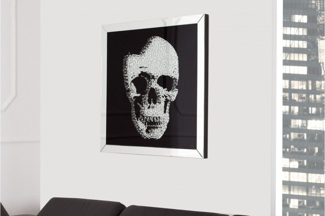Sklenený obraz SKULL - čierna