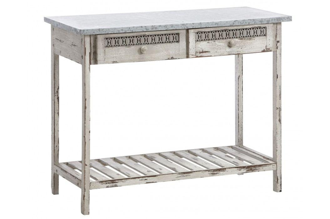 Toaletný stolík ONNI - antická biela