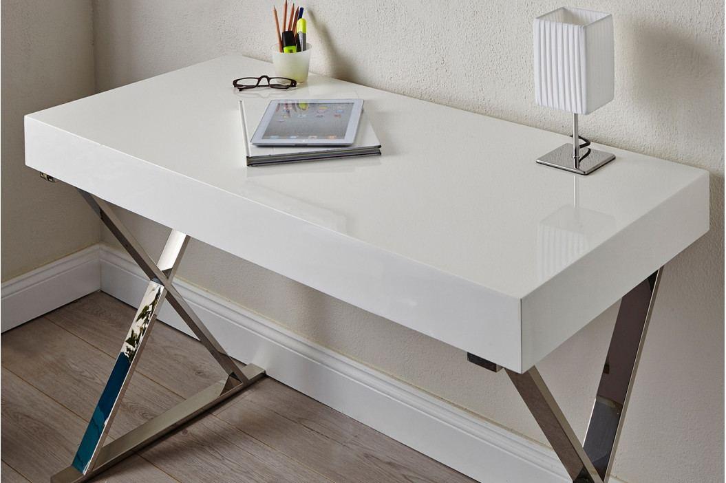 Bighome - Písací stôl bez šuplíka BRACE 100 cm - biela