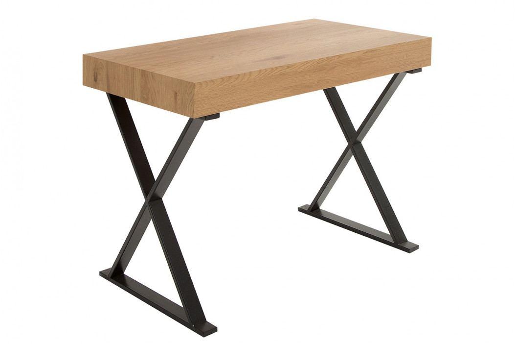 Bighome - Písací stôl bez šuplíka BRACE 100 cm - prírodná